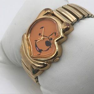 Disney Timex Pooh Ladies Watch Analog Gold Tone